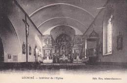 21455 LOCMINÉ, Intérieur De L'Eglise  -Ed Eon, Tabacs  Chaussures  -Saint Colomban ?