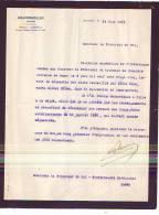 Auvelais - 1925 - 2 Documents - Notaire Grandmoulin - Belgique
