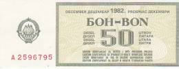 YUGOSLAVIA 1984  --  BON FUR 50  LITER BENZIN - Jugoslawien