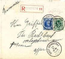 311/20 - Lettre RECOMMANDEE TP Houyoux Et Lion OOSTDUINKERKE 1929 Vers YPRES - Origine WULPEN - 1922-1927 Houyoux
