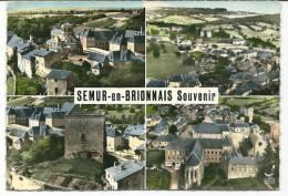 CPSM 71 SEMUR En BRIONNAIS VUE D'ENSEMBLE    MULTIVUES - Sin Clasificación