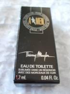A Men - Edition Limitée 20 Ans - Eau De Parfum Sublimée Dans Un Réservoir Avec Des Morceaux De Cuir - 1.2 Ml - Echantillons (tubes Sur Carte)