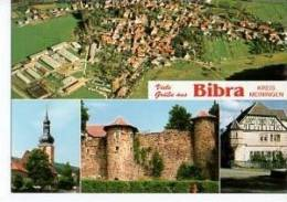 MB Grüße Aus Bibra Kreis Meiningen Fabrik-Gelände Luftbild Kirche 70er - Autres