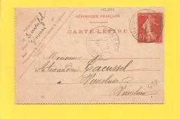 Carte Lettre Semeuse Obl GEMENOS - Storia Postale