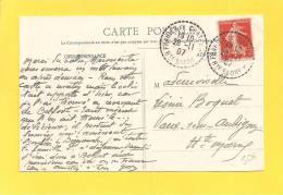 Carte Type Semeuse 135 Obl FRAHIER ET CHATEBIER - Storia Postale