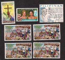 PILIPINAS PHILIPPINES Christinity Royal, Culture, 7 Stamps VFU  Lot - Mezclas (max 999 Sellos)