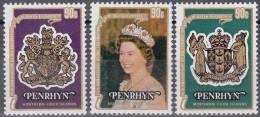 Penrhyn 1974 Michel 115 - 117 Neuf ** Cote (2005) 2.70 Euro 25 Ans De Couronnement De Reine Elisabeth II - Penrhyn
