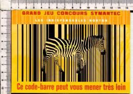 CODE BARRE -  ZEBRE - Publicité