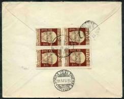 1922 Fiume, Raccomandata Con Quartina 30 Cent. Governo Provvisorio Per Trieste, Timbro Di Arrivo - 8. Ocupación 1ra Guerra