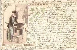 MARCHAND De MARRONS Signé A. MULLER - Carte Pionnière De 1900 - Illustrateurs & Photographes