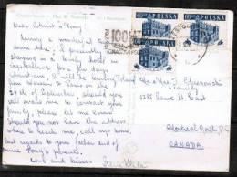 POLAND    Scott # 807 (3) On POSTCARD To Montreal Canada - 1944-.... Republic