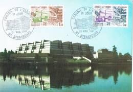 0314. Tarjeta Maxima STRASBOURG (France) 1981. Conseil D'Europe - Cartas Máxima