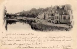 29 - 9 - QUIMPERLE Les Quais  Précurseur écrite Timbrée 1901 - Quimperlé