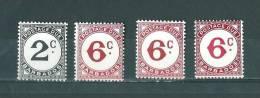 Barbade: Taxe - 5-6-9-9a ** - Barbades (1966-...)