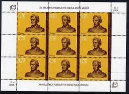 BOSNIA HERCEGOVINA (CROAT) 2004 Andrija Miosic Sheetlet MNH / **.  Michel 131 - Bosnien-Herzegowina