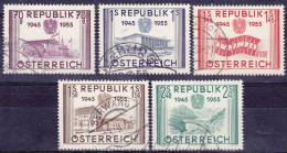 OOSTENRIJK - Michel - 1955 - Nr 1012/16 - Gest/Obl/Us - 1945-60 Oblitérés