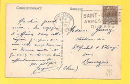 CP N° 271 Obl SAINT ETIENNE ARMES RUBANS - France