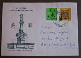 DDR Brief Leipziger Frühjahrsmesse 1978 - DDR