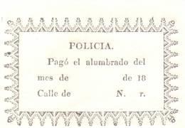 RECIBO DE PAGO DEL ALUMBRADO MONTEVIDEO URUGUAY CIRCA 1830 ORIGINAL AUTHENTIC RARISIME - Historical Documents