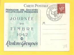 CP N° 515 Obl TOULOUSE JOURNEE DU TIMBRE - 1941-42 Pétain