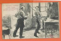 R086, Nos Bons Citadins, Boucherie, Boucher, Andouille , Humour, Saucisse,  Jambon, Circulée 1929 - Artisanat