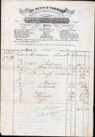 AU PETIT St-THOMAS A PARIS / FACTURE DATEE 1849 / DEPARTEMENT 75 - 1800 – 1899