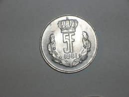 Luxemburgo 5 Francos 1981 (4728) - Luxemburgo
