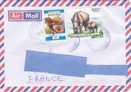 [Z2] Lettre Burundi Rhinocéros Rhino - Rhinozerosse