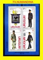 URUGUAY 1979 POLICE POLICE POLIZEI UNIFORMEN BLOC S/S BL Yv 33 Mi 46 NEUF**MNH POSTFRISCH