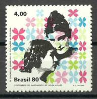 Brazil 1980 ( Helen Keller (1880-1968), Blind Deaf Writer & Anne Sullivan ) - MNH (**) - Unused Stamps