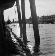 P55 - Dutch harbour and windmill - detail - 1 vintage photo negative 1950s Holland