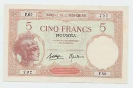 New Caledonia Noumea 5 Francs 1926 XF++ AUNC P 36b  36 B - Nouméa (New Caledonia 1873-1985)