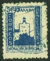 GRANADA ùDiputacion Provincial   Beneficencia  5 Cts Usado - Spanish Civil War Labels