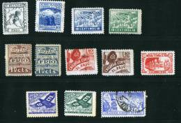 CRUZADA CONTRA EL FRIO   12 Viñetas - Spanish Civil War Labels