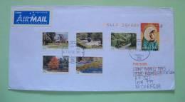 Australia 2012 Cover To Nicaragua - Christmas - Royal Botanic And Gardens - Trees Flowers - 2010-... Elizabeth II