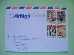 Australia 2012 Cover To Nicaragua - Circus Clowns Horse - 2010-... Elizabeth II