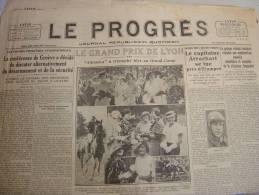 Le Progrès Du 24 Mai 1933 Arrachart à Etampes Coupe Deutsch De La Meurthe Edouard Herriot Grand Prix De Lyon - Journaux - Quotidiens