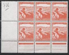 France N°736 ** Neuf  Bloc De 6 - Unused Stamps