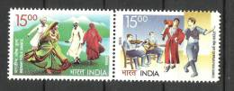 INDIA, 2006, India Cyprus Joint Issue, Setenant Set, 2 V,  Music, Dance, Culture, MNH, (**) - Joint Issues