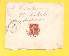 FRANCE LETTRE N° 138 Obl ALBERTVILLE - Storia Postale