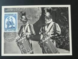 Carte Maximum, Maximum Card, Musique Tambour Music Drum Costume 1956 Vatican - Cartas Máxima