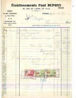 Tamines - 1939 - Etablissements Paul Dupont - Tout Ce Qui Concerne L'auto - Cars