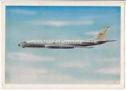 TRANSPORT AIRPLANES SAMOLET TY-104 AEROFLOT SOVIET AIRLINES SSSR BIG POSTCARD - 1946-....: Moderne