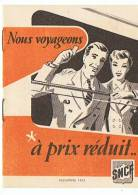 S N C F NOUS VOYAGEONS à PRIX REDUIT  1952 - Non Classés