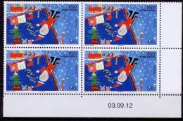 SAINT PIERRE ET MIQUELON- JOYEUX NOEL - Bloc De 4 V  Daté -NEUF**  -  2012 - Weihnachten