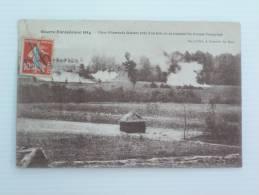 GUERRE EUROPEENNE 1914 OBUS ALLEMANDS ECLATANT PRES D UN BOIS   VOYAGEE - Guerre 1914-18