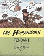 """33 - Les Humanistes Par Pécub  Cygogne Apportant Cerveau, Ramoneur  """" Fendant Cave Taillefer Sierre"""" - Humour"""