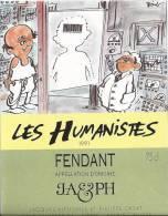 """34 - Les Humanistes Par Pécub  Scan Du Cerveau """" Fendant Cave Taillefer Sierre"""" - Humour"""