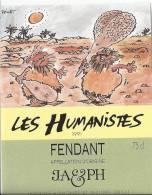 """37 - Les Humanistes Par Pécub  Bataille Dans Le Désert  """" Fendant Cave Taillefer Sierre"""" - Humour"""