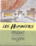 """42 - Les Humanistes Par Pécub David & Goliath  """" Fendant Cave Taillefer Sierre"""" - Humour"""